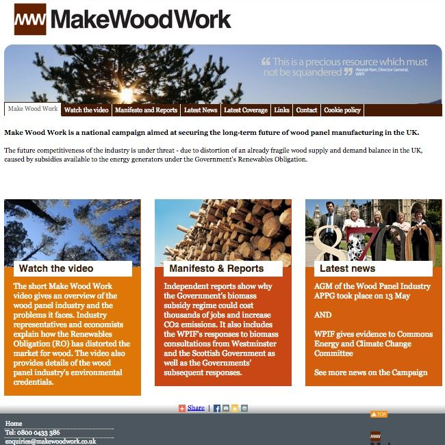 Make Wood Work - Biomass threat - Click to enlarge the image set